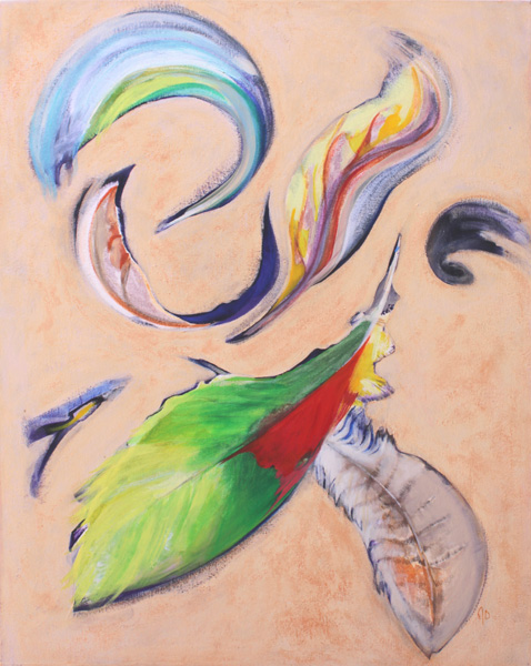 """Into The Wind by Joan Desmond, 30"""" x 24"""" acrylic on canvas"""